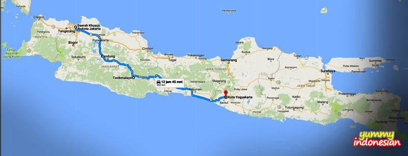 Java South Line (Jalur Selatan) from Jakarta to Yogyakarta